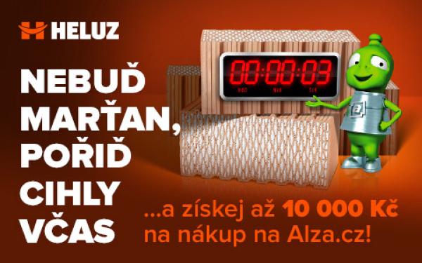 Za nákup cihel HELUZ až 10 tisíc korun na útratu v e-shopu Alza.cz