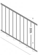Obr. 5: Měření výšky madla na schodišti