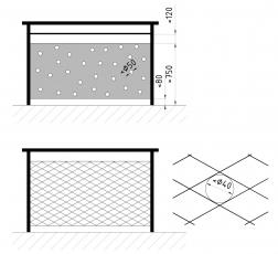 Obr. 6: Plošná děrovaná nebo síťovaná výplň