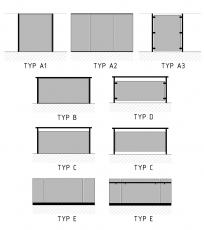 Obr. 7: Typy zábradlí se sklem