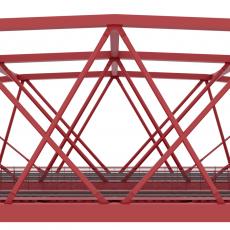 Vizualizace nového železničního mostu na Výtoni, zdroj IPR Praha