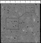 Obr. 6: Tomografický snímek struktury zkušebního tělesa 40 % VP 300