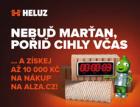 Poukaz na nákup v e-shopu Alza.cz lze za objednávku cihel HELUZ získat do konce března