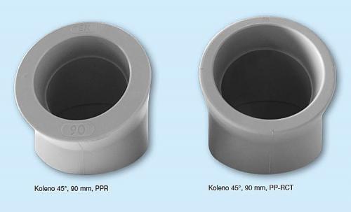 Tvarovky pro rozvody vody a topení nově z materiálu PP-RCT