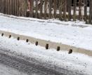 Zimní podmínky prověřily odolnost obrubníkového odvodnění MEA KERB