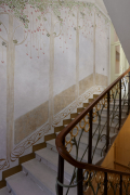 Při rekonstrukci se pod nánosy maleb objevil fragment původní malby naschodišti, který se podařilo doplnit vcelém rozsahu
