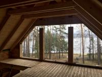 Konstrukční prvky krovu a bednění jako součást interiéru