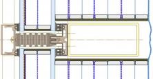 Obr. 6: Úprava, var. 5 – vytvoření vícekomorového systému na míru pro běžný fasádní systém podle tloušťky sloupkopaždíkové konstrukce