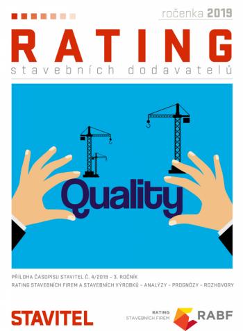 Ročenka Rating stavebních dodavatelů 2019