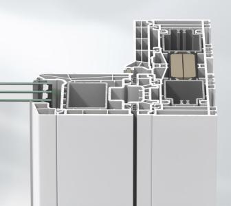 Plastové profily Schüco LivIngSlide vytvářejí čisté linie