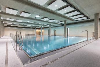 Komplex termálních bazénů Thermalium se skly Lacobel a Matelac