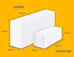 Velkoformátové tvárnice Jumbo ve stavební praxi