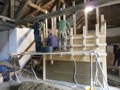 Obr. 7: Dřevěné bednění se stahovacími šrouby a rozpěrami