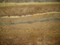 Obr. 24: Pohledová dusaná stěna v rekreačním domě poblíž Berlína