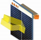 Obr. 2: Konstrukce hybridního panelu s fotovoltaikou chlazenou vodou (zdroj www.energyin.cz)