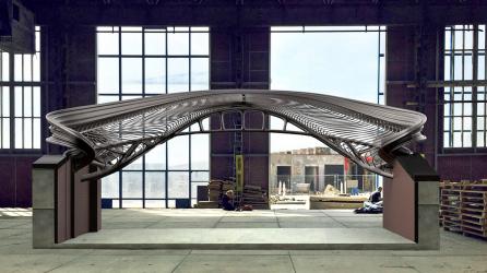 Vizualizace prvního návrhu mostu