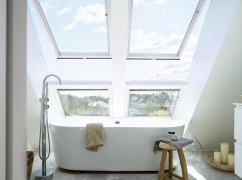 Zdvojená střešní okna a neotvíravé prvky GIU