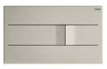 """Design ovládací desky Visign for More 201, která je vyrobena z jednoho kusu ušlechtilé oceli, zapůsobí především jedinečným zpracováním. Tlačítka obou funkcí splachování se v místě dotyku zvedají do tvaru měkké vlnky a narušují tak jinak čistě puristický vzhled desky. Achim Pohl, diplomovaný designér a CEO společnosti ARTEFAKT design z Darmstadtu, popisuje Visign for More 201 jako """"ovládací desku s maximálně puristickým vzhledem. Zhotovení z jediného kusu ušlechtilé oceli jí propůjčuje decentní výjimečnost, která potěší každé oko"""". Podsvícení formou LED rámu, který lze k desce doobjednat, dokáže ještě více zdůraznit její jedinečnost. Visign for More 201 je k dostání v kartáčovaném nerezu, v pozlacené variantě nebo v barvách alpská bílá a antracit. Možná je i vestavba v jedné rovině s obkladem."""