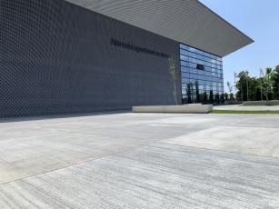 Odvodnění zpevněných ploch prostějovského Národního sportovního centra