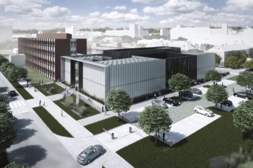 Nové centrum Fyzikálního ústavu AV, vizualizace Bogle Architects