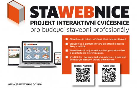 Interaktivní on-line příručka Stawebnice je určená pro vzdělávání v oblasti zděných staveb na úrovni středních odborných škol a učilišť