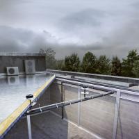 Podtlakové odvodnění plochých střech Geberit Pluvia