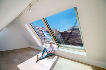 Posuv okna Solara PERSPEKTIV je hladký, je to radost si okno otevřít