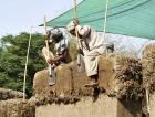 Tvarování stěny rýčem