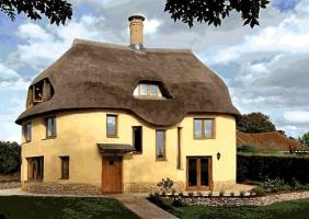 Obr. 5: Stavba domu z vrstveného zdiva, Cadhay, Devon, Anglie, Kevin McCabe Ltd.
