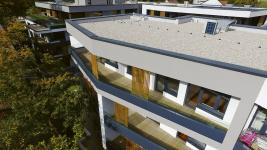 Každý byt disponuje potřebným balkonem nebo terasou