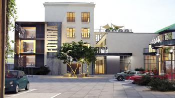 Budoucí hotel a coworking