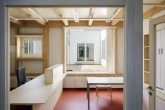 Kanceláře radnice – vnější výplně otvorů jsou hliníkové, vnitřní dřevěné