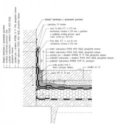 Obr. 15: Technické řešení ochrany hydroizolace u vnější části parkoviště