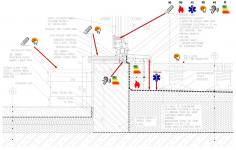 Obr. 1: Uplatnění základních požadavků v detailu vstupu na terasu