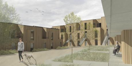 Cena Stora Enso – Obytný soubor, Líšeň – Cohousing, Valentýna Uřídilová, Fakulta architektury, Vysoké učení technické v Brně.