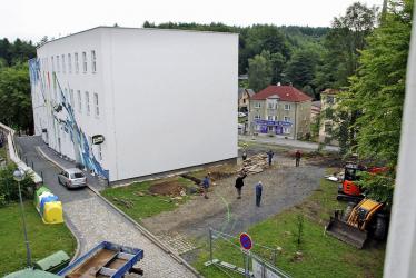 Zahájení stavby nového vchodu v roce 2017