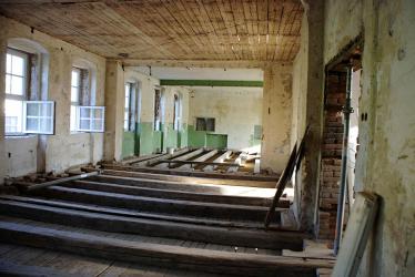 Ukázka interiéru v průběhu rekonstrukčních prací