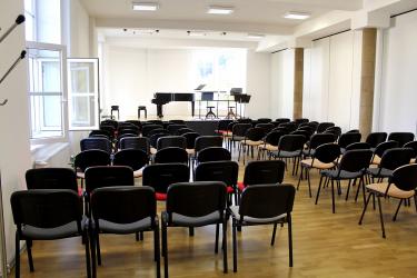 Interiér ZUŠ – koncertní sál