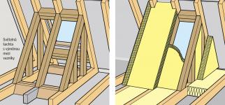 Světelná šachta umožňuje osvětlení shora bez komplikovaných zásahů do konstrukce domu