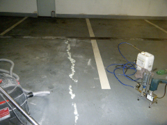 Injektáž trhliny v mezistropu garáží – polyuretanem