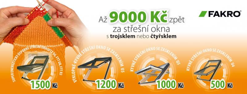 Vybírejte střešní okna FAKRO a získejte zpět prémii až 9000 Kč