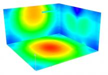 Obr. 2a: Ilustrační model změny vyzařování, vlevo obvyklá lineární zářivka, vpravo LED trubice s malým vyzařovacím úhlem