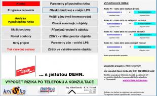 Obr. 4: Milanův software pro analýzu rizik www.kniSka.eu