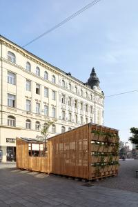 Obr. 6: City Cell Prototype nainstalovaný na Malinovského náměstí v Brně