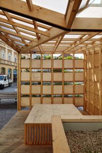 Obr. 8: City Cell Prototype nainstalovaný na Malinovského náměstí v Brně