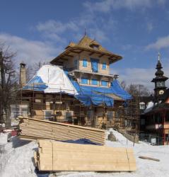 Obr. 20: Současný stav obnovy Libušína