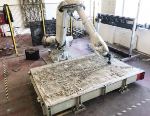 Modelování formy pomocí robota