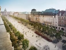 Tramvaje pojedou po okrajích Václavského náměstí; rekonstrukce spodní části začne na jaře