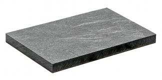 Plastický povrch s dekorem břidlice. Formování povrchu je provedeno při lisování šablonou, jejíž profil odpovídá požadované 3D struktuře.