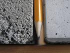 1_Porovnání hutnosti struktury betonové mazaniny (vlevo) a litého potěru Cemflow (vpravo)